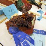 Green Heron won Blue Ribbon and 1st Place in Advance Bird Carvings