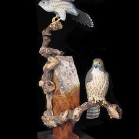 """Wild and Free"" Merlin Falcon Pair"