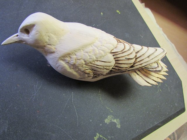 Carve Individual Feathers