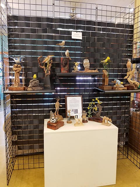 Carvings and caricatures on display