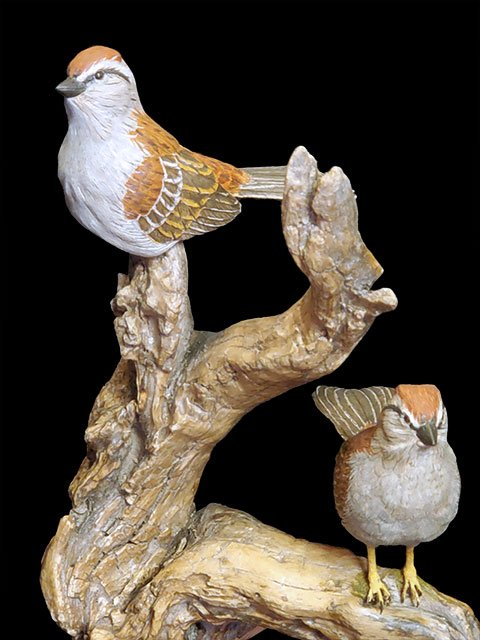 Perfect Perch Chipping Sparrow Pair