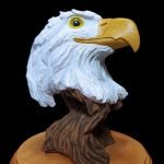 """Bald Eagle"" Life-size Head Sculpture"