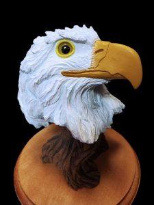 """Bald Eagle"" Life-size Head Sculpture"
